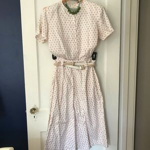 Vintage soft pink matching two piece dress set!